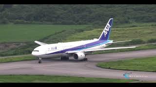 【南ぬ島 石垣空港 美しすぎる絶景!! カーラ岳から撮るANAトリプル!! 】All Nippon Airways(ANA) Boeing777-200ER JA717A
