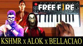 free fire x Kshmr x vale vale x Bella Ciao | Mix By Raj Bharath | DJ Alok | Money Heist