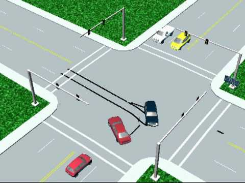 3-D Accident Simulation at an Intersection - YouTube