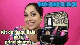Kit de maquillaje para principiantes con productos economicos del centro.