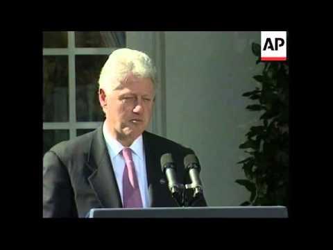 USA: BILL CLINTON ON ISRAELI/PALESTINIAN CRISIS