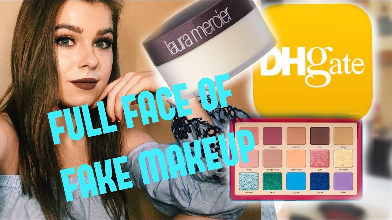 FULL FACE OF DHGATE MAKEUP |DHgate haul, fake makeup|