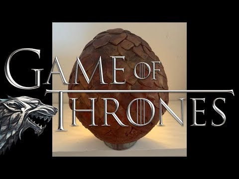 How to make a Dragon Egg from GAME OF THRONES tutorial | Ovo de dragao passo a passo | GOT thumbnail
