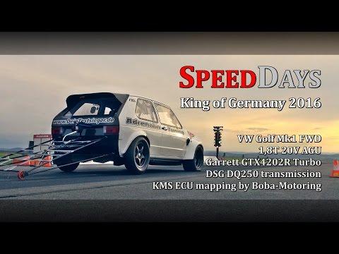 SPEEDDAYS 2016 VW Golf Mk1 DSG FWD 9,3s @ 248kmh Adrenalin Tuning