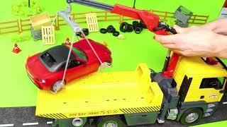 Pelleteuse, camion à ordures, Camion de pompier, voiture de police, trains jouets Excavator Toys