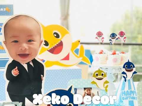 Trang trí tiệc thôi nôi sinh nhật chủ đề Baby Shark  Xeko decor   Tóm tắt các thông tin về trang trí thôi nôi bé trai chi tiết