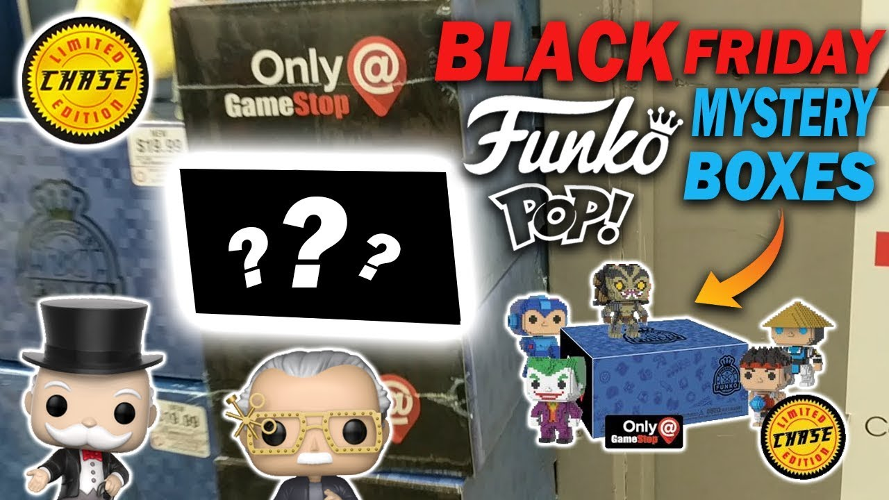 Black Friday Funko Pop Gamestop Mystery Boxes 2017 Chase