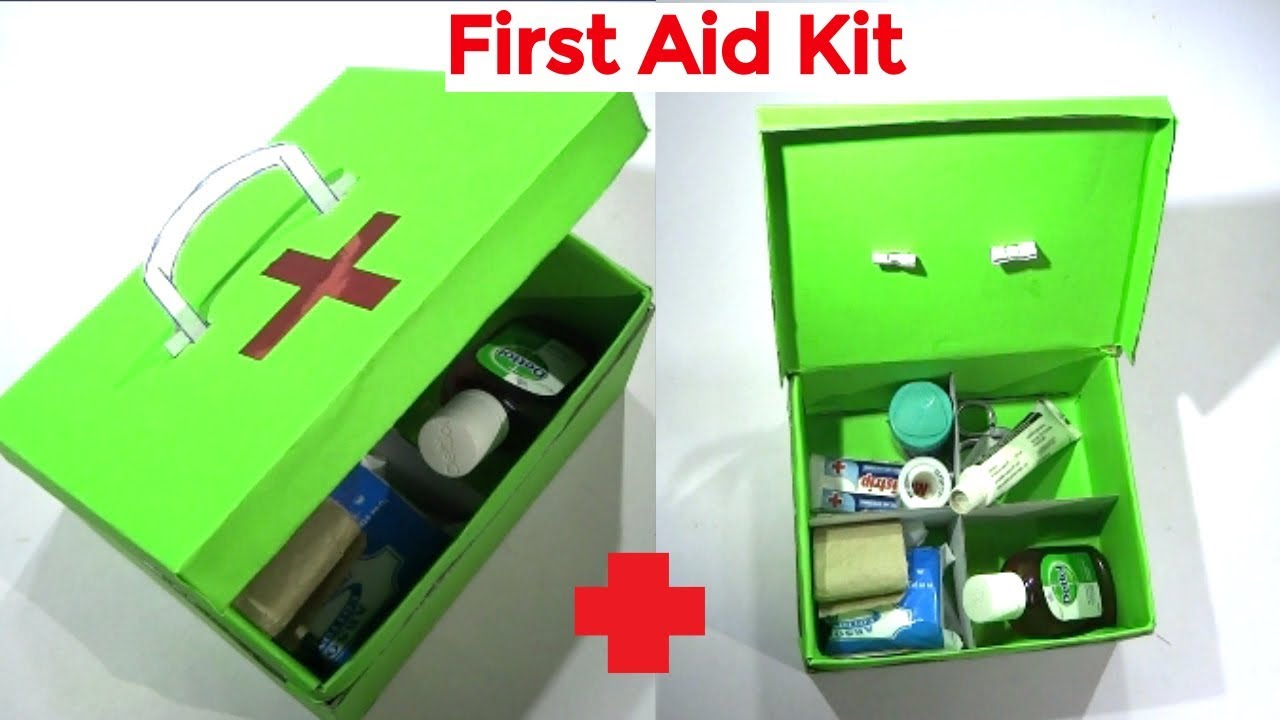 How to make First Aid Kit | First aid box at home | School activity | Easy  craft hacker