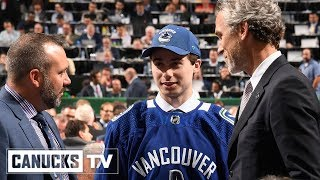 draft day with quinn hughes behind the scenes