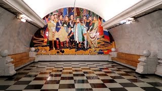 The deepest metro station in Moscow: Park Pobedy