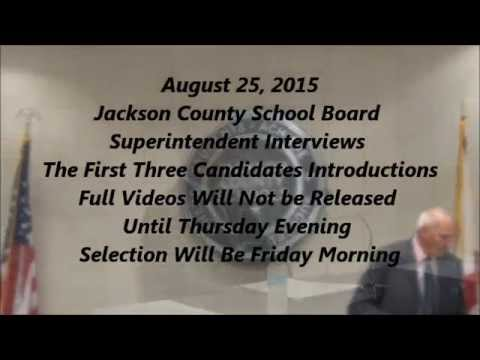 Jackson County Board of Ed. Part 1 Interviews 8-25-15