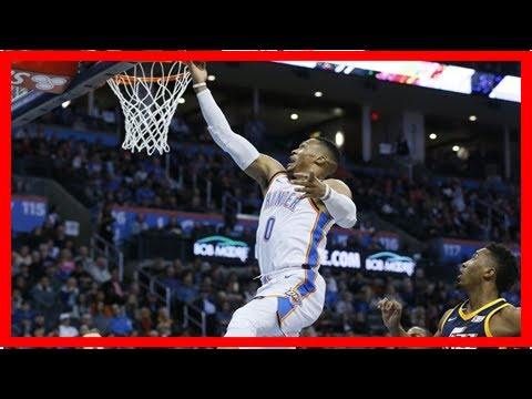 Westbrook's triple-double leads thunder past jazz 100-94