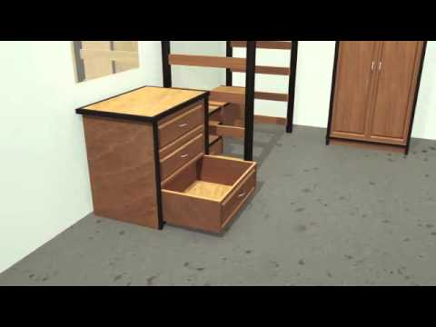 3D Modeling - Dorm Furniture