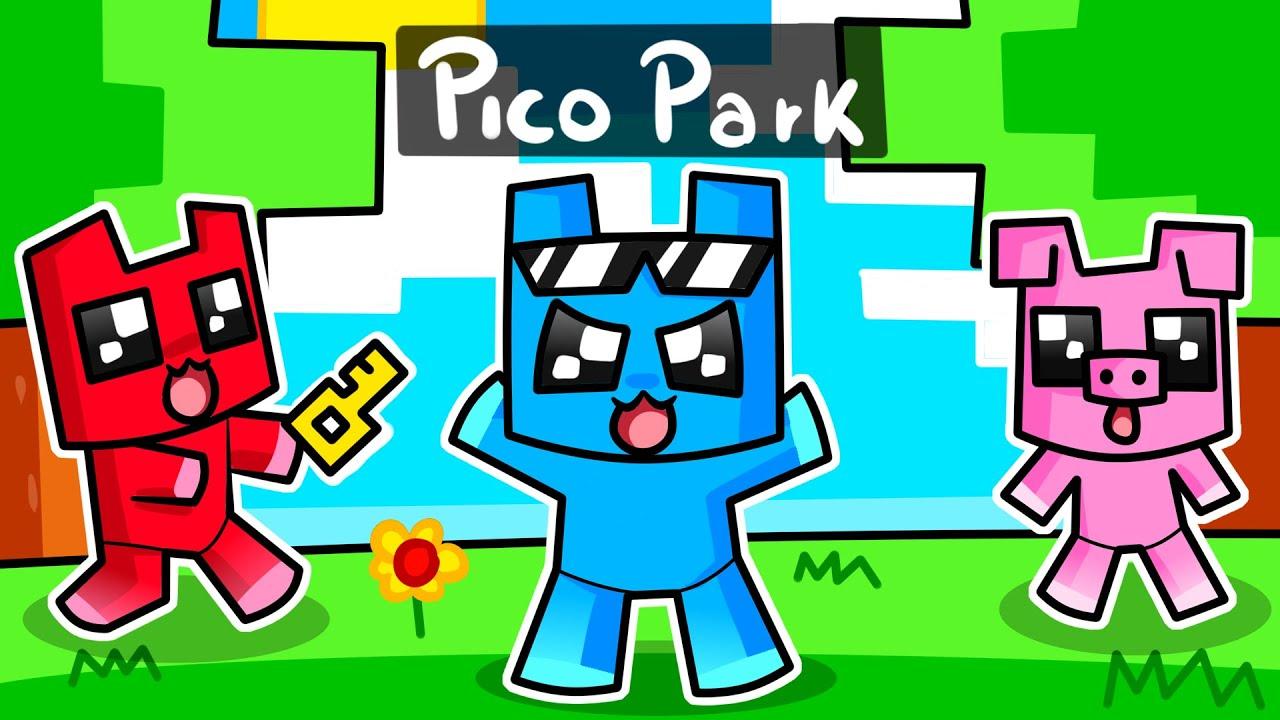 MINECRAFT PERO jugamos PICO PARK 😂 Los COMPAS
