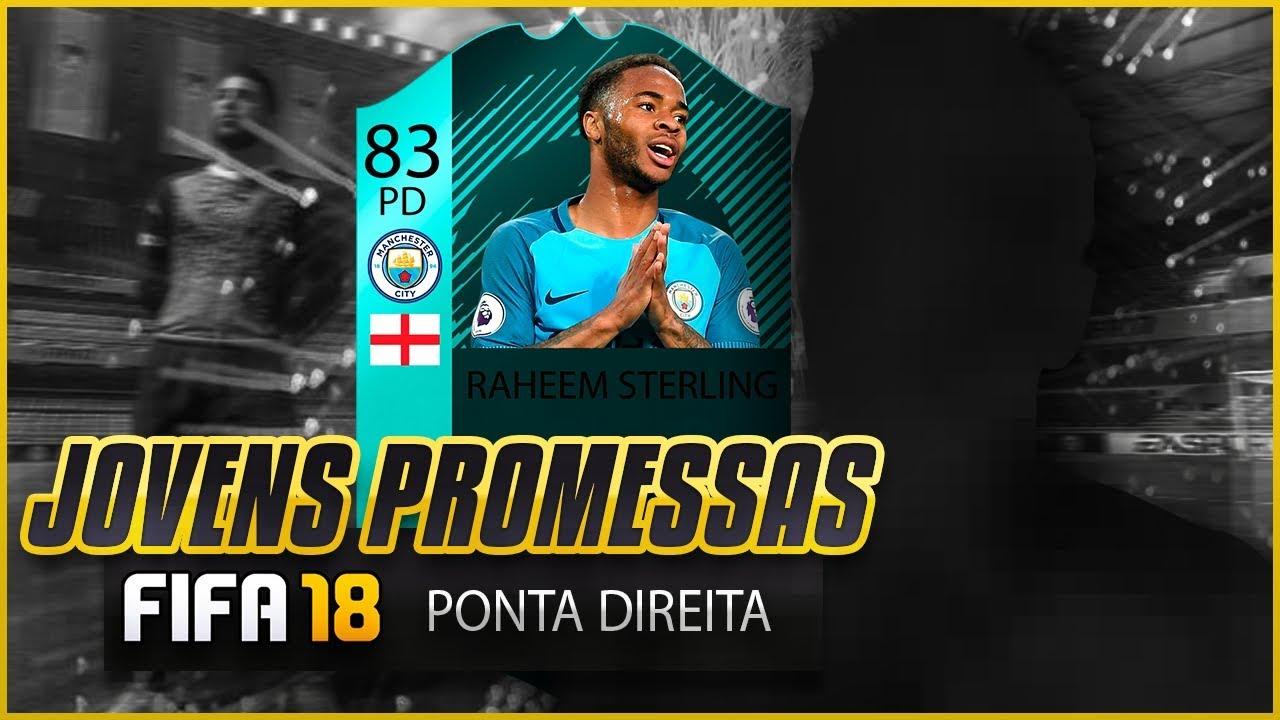 PONTA DIREITA - TOP JOVENS PROMESSAS - FIFA 18 ⚽