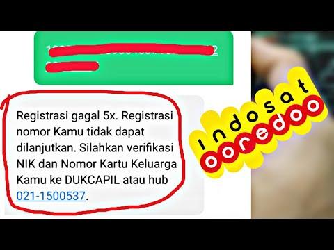 Solusi Real Cara Registrasi Kartu Indosat Gagal 5x Sanjaya Com Youtube