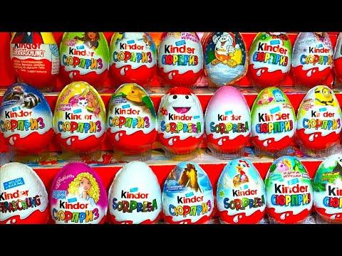 800 Киндер Сюрпризов Самый Большой Сборник Unboxing Kinder Surprise Eggs Маша и Медведь,Фиксики