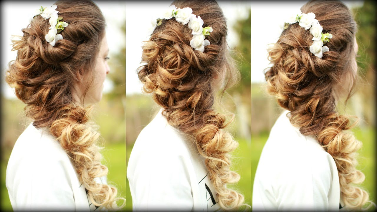 Easy Cascading Curls Hairstyle Prom Hairstyles Braidsandstyles12 Youtube