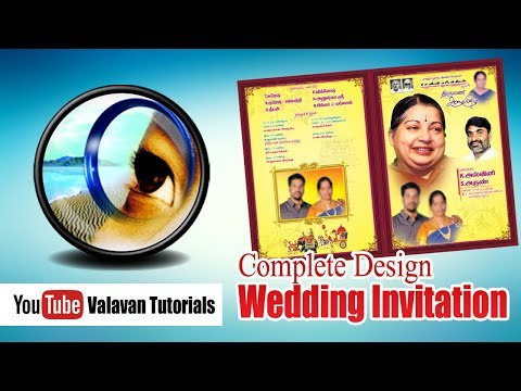 Photoshop Class 32nd Day in Tamil | Complete Wedding Invitation Design thumbnail
