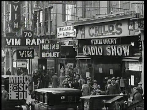Radio Row, Cortlandt Street, New York, 1929