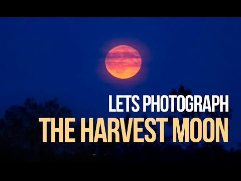 DSLR Astrophotography - Let's Photograph the Harvest Moon 2016
