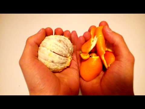 DIY material from orange peels