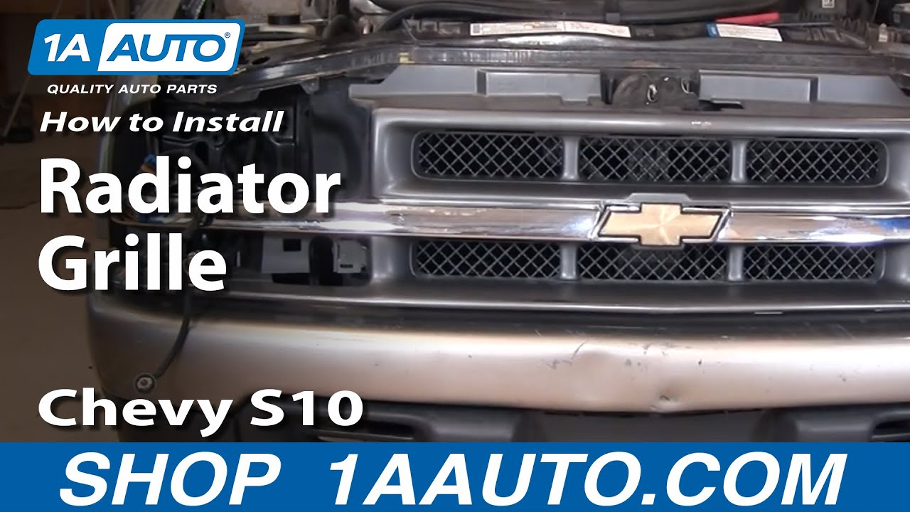 How To Install Replace Radiator Grille Chevy S10 Pickup 98