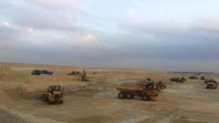 قناة السويس الجيددة : مشهد عام للحفر فى الكيلو80نوفمبر2014
