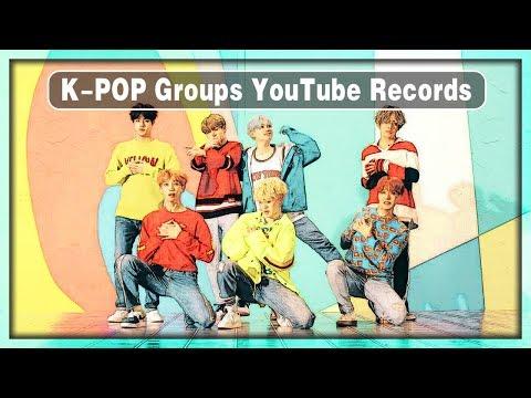 【KPOP】K-POP Groups YouTube Records • September 2017