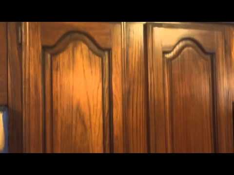 Dark Walnut Stained Cabinets From Pecan