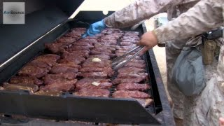 Military Food: Marines Enjoy a Warriors Meal