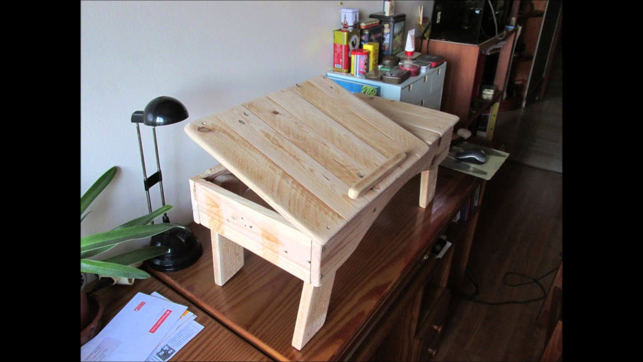 Laptop Bed Table Made From Pallets Youtube