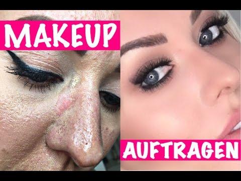 24 Std Langanhaltendes Makeup Auftragen Bei Mischhaut Fettiger