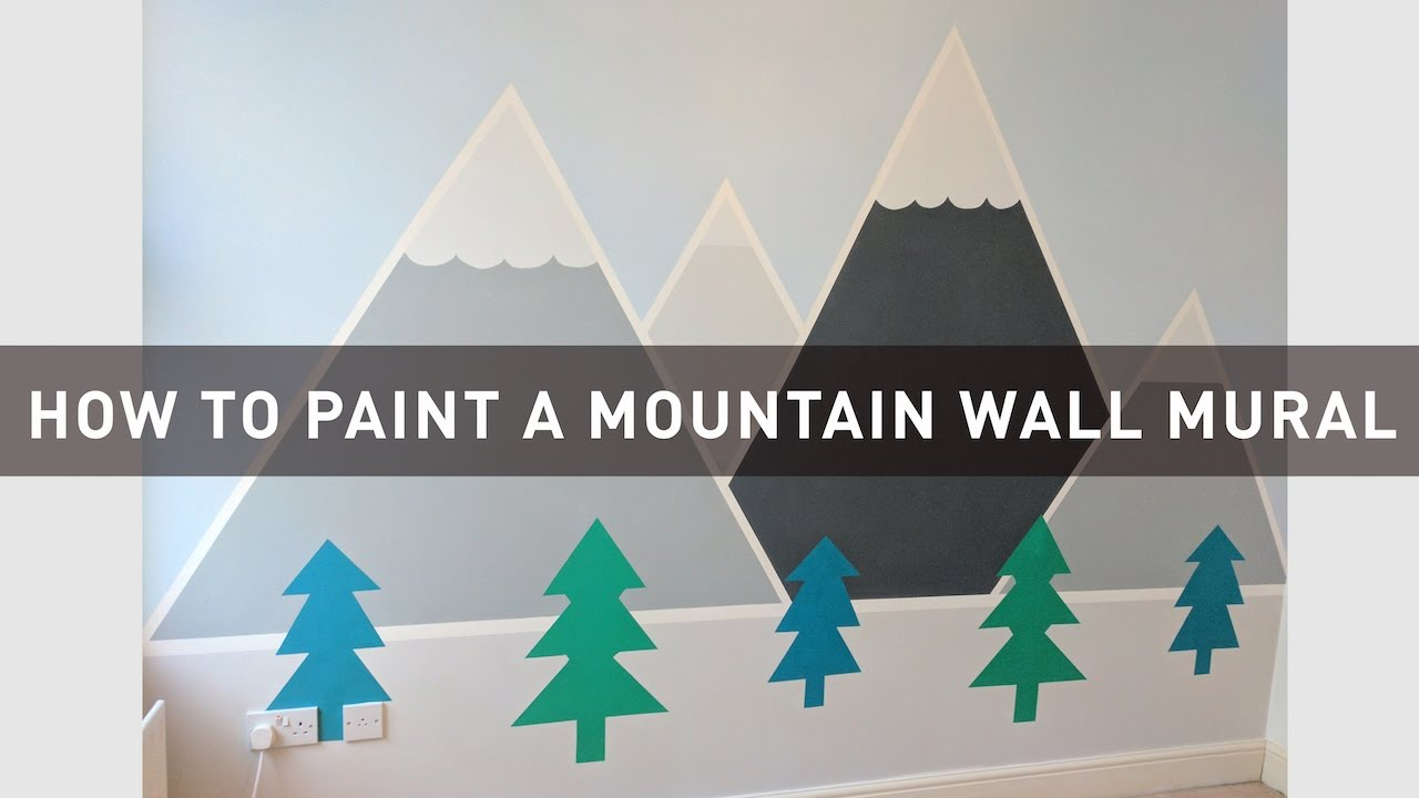 How to paint a mountain wall mural a colourful home for How to buy a mountain