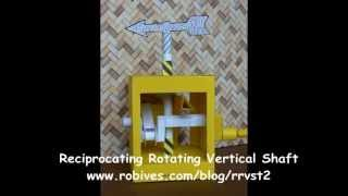 Reciprocating Rotating Vertical Shaft, paper model