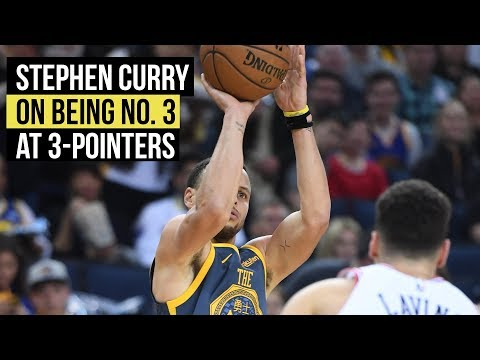 Stephen Curry on being No. 3 in all-time 3-point list