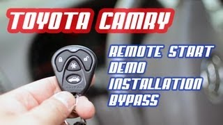 Toyota Camry Remote Start and Bypass, Demo & Install AutoToys.com (Idatalink DEI Avital) (HOW-TO)