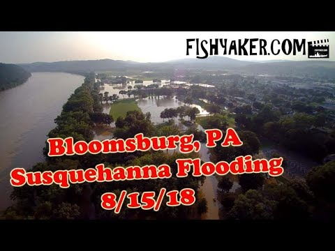 Susquehanna River Flooding - Bloomsburg, Pennsylvania: August 15, 2018 - BY DRONE!