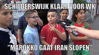 """Schilderswijk klaar voor WK: """"Marokko gaat Iran slopen"""""""