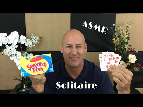 ASMR Relaxing Solitaire And Swedish Fish~Ear To Ear~Soft Spoken/Whisper