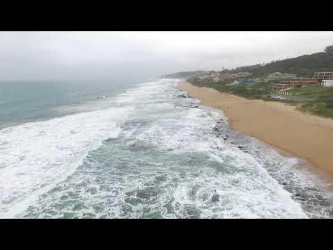 Durban Beach Drone view