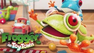 Frogger у іграшкове містечко - геймплей проходження частина 1 - 1-5 ступені (Яблуко аркади)