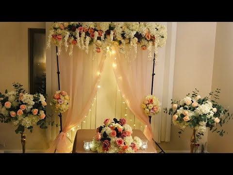 DIY - backdrop decor DIY- floral backdrop DIY - wedding decor DIY elegant backdrop part 2 thumbnail