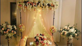 Diy   Backdrop Decor Diy  Floral Backdrop Diy   Wedding Decor Diy Elegant Backdrop Part 2