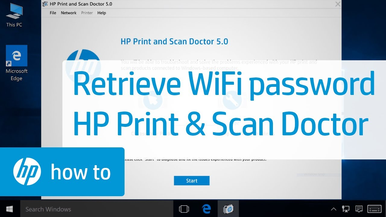 Retrieving A Wireless Network Password With Hp Print And