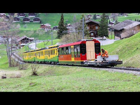 Jungfraubahn im Generationenwechsel - Transport alter und neuer Züge über die WAB