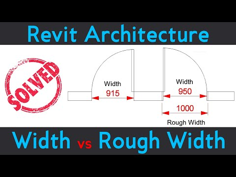 #79   Revit Architecture   Door Width vs Rough Width in Revit Architecture [DeepakVerma]