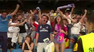 Real Madrid fans watch Champions League victory inside Santiago Bernabeu