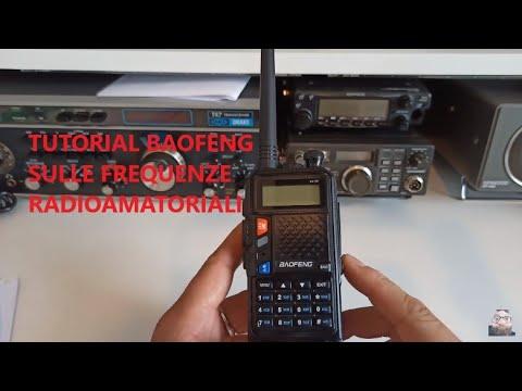 Radioamatori-Tutorial per usare i Baofeng sulle FREQUENZE RADIOAMATORIALI