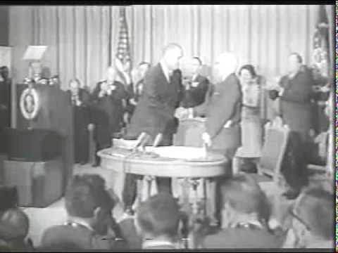 President Johnson Signs Medicare into Law